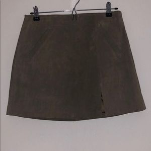 BlankNYC suede mini skirt